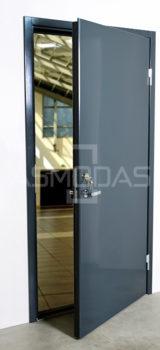 metalinės durys, su spyna, dešininės, pilkos spalvos