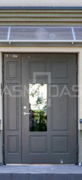 lauko durys, su ornamentais, su stiklu, dvigubos