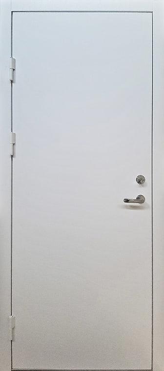 šarvuotos durys, sidabrinės spalvos, baltos, kairinės, su spyna