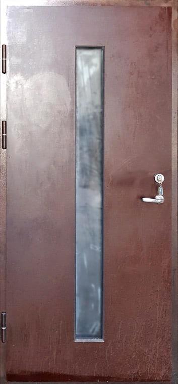 šarvuotos durys, medžio spalvos, rudos spalvos, su stiklu