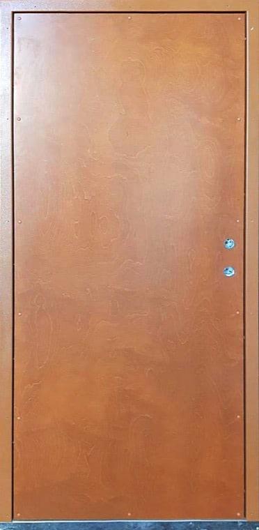 Medinės lauko durys, su spyna ASSA565, su raštu, rudos spalvos