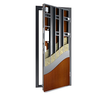 Rudos spalvos buto durys, MDF skydas, buto durys, kokybiškos. Asmodas bestageneral